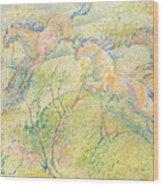 Jumping Horses Wood Print