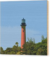Jupiter Inlet Light Wood Print