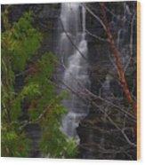 Kakabeka Falls, Low Water Wood Print