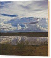 Kalahari Rain Dance Wood Print by Basie Van Zyl