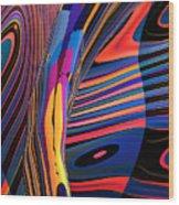 Kaleido-fa-callig. 10x11m37 Wide 11i Wood Print