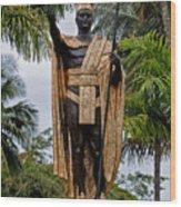 Kamehameha The Great Wood Print