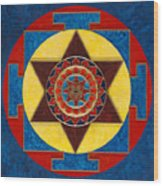 Kameshvari Yantra Blessings Sacred 3d High Relief Artistically Crafted Wooden Yantra  23in X 23in Wood Print