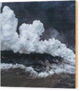 Kapoho Ocean Entry Wood Print