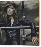 Kate Beckinsale Wood Print