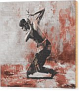 Kathak Dancer  Wood Print