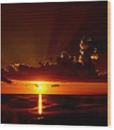 Keaton Beach Sunset Wood Print