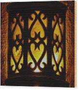 Keep The Porch Light On For Oscar Wood Print