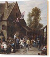 Kermis On St. George's Day Wood Print
