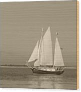 Ketch - Nantucket Harbor Wood Print
