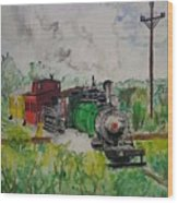 Kettle Moraine Train Wood Print