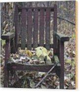 Keven's Chair Wood Print