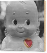 Rosie O'neil's Kewpie Of Love Wood Print