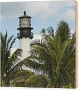 Key Biscayne Lighthouse, Florida Wood Print