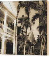 Key West House Wood Print