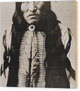Kicking Bear Indian Chief Wood Print