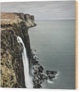 Kilt Rock Waterfall - Isle Of Skye Wood Print