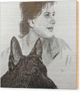 Kim and Saver Wood Print