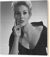 Kim Novak,1956 Wood Print