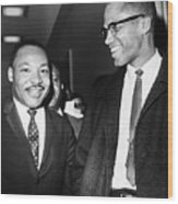 King And Malcolm X, 1964 Wood Print