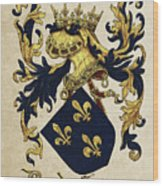 King Of France Coat Of Arms - Livro Do Armeiro-mor  Wood Print