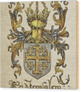 Kingdom Of Jerusalem Coat Of Arms - Livro Do Armeiro-mor Wood Print by Serge Averbukh