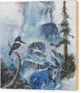 Kingfisher's Realm Wood Print