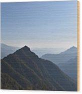 Kings Canyon Smokey Evening Vista Wood Print