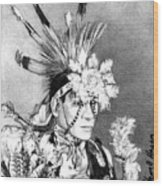 Kiowa Indian Wood Print
