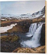 Kirkjufellsfoss Waterfalls Iceland Wood Print