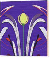 Kiss The Flower Wood Print