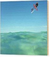 Kitesurfing Wood Print
