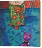Kitty Still Wood Print