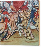 Knights In Tournament Wood Print
