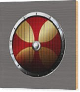 Knights Templar Shield Wood Print