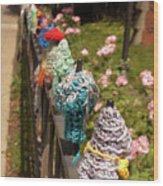 Knit Fence Protectors Wood Print
