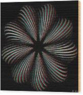 Knotplot 9 - Use Red-cyan 3d Glasses Wood Print