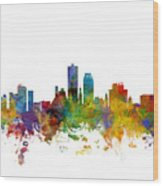 Knoxville Tennessee Skyline Wood Print
