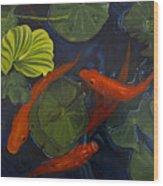 Koi Ballet Wood Print