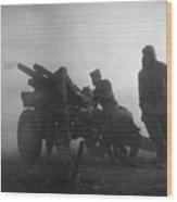 Korean War: Artillery Wood Print
