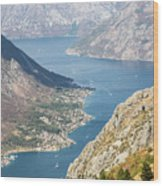 Kotor Bay In Montenegro Wood Print