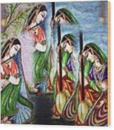 Krishna Prayer  Wood Print
