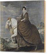La Reina Isabel De Borbn A Caballo Diego Rodriguez De Silva Y Velazquez Wood Print