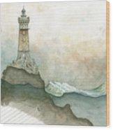 La Vieille Lighthouse Wood Print
