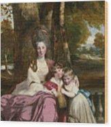 Lady Elizabeth Delme And Her Children Wood Print