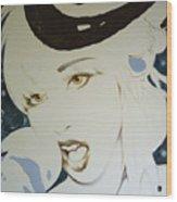 Lady Gaga Lady  Wood Print