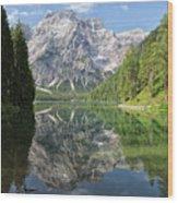 Lake Braies Wood Print