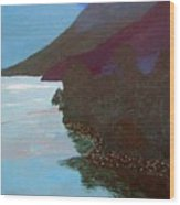 Lake By The Mountains Wood Print
