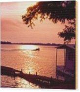 Lake Chicot Sunset Wood Print