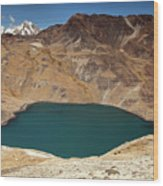 Lakeview From Pico Austria Pass Wood Print